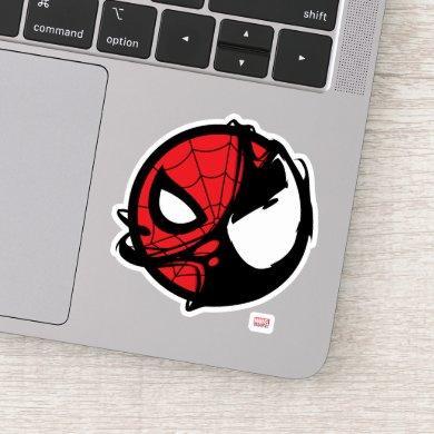 Venomized Spider-Man Logo Sticker