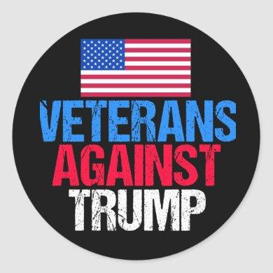 Veterans Against Donald Trump Classic Round Sticker
