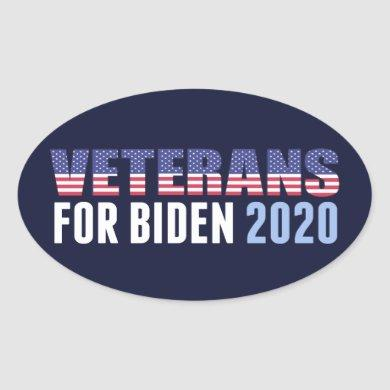 Veterans for Biden Oval Sticker