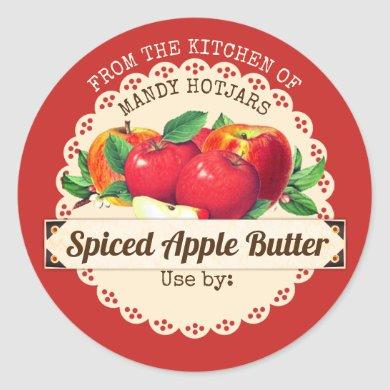 Vintage apples from the kitchen of canning label