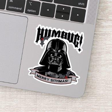 "Vintage Darth Vader ""Humbug! Merry Sithmas!"" Sticker"