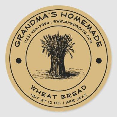 Vintage Homemade Bread Label Template