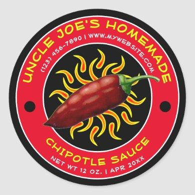 Vintage Homemade Chipotle Sauce Label Template