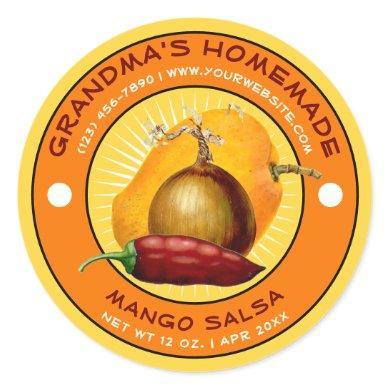 Vintage Homemade Mango Salsa Label Template