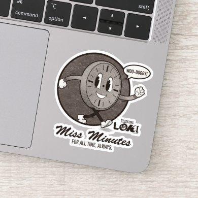 Vintage Miss Minutes Graphic Sticker