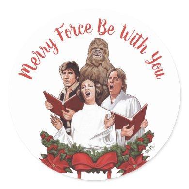 Vintage Star Wars Rebel Choir Classic Round Sticker