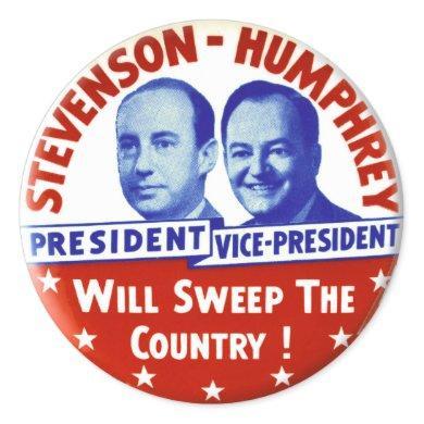 Vintage Stevenson Humphrey Campaign Button Classic Round Sticker