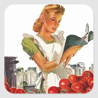Vintage Sticker Gift Canning Tomatoes Sauce Salsa
