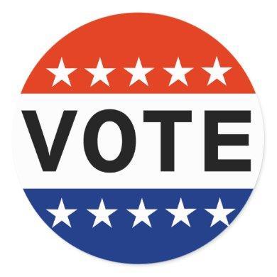 Vote 2020 Presidential Election Classic Round Sticker