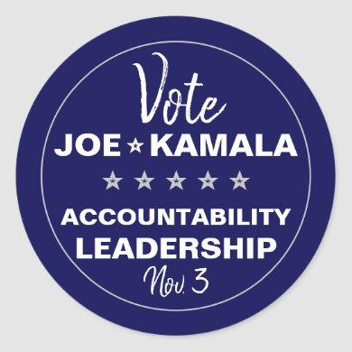 Vote Joe Biden Kamala Harris 2020 Template Classic Round Sticker
