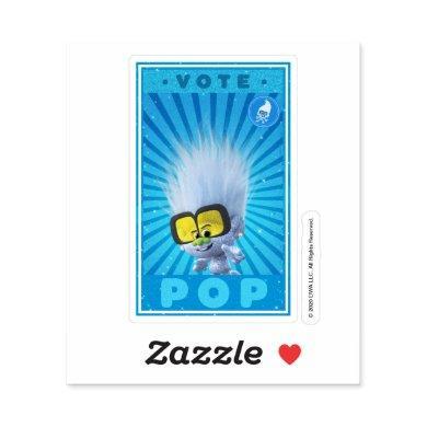 Vote Pop Music - Tiny Diamond Sticker