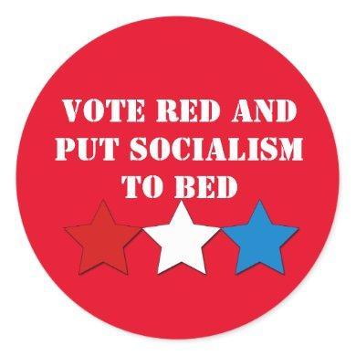 Vote Red (Republican) Classic Round Sticker