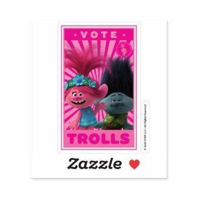 Vote Trolls - Poppy & Branch Sticker