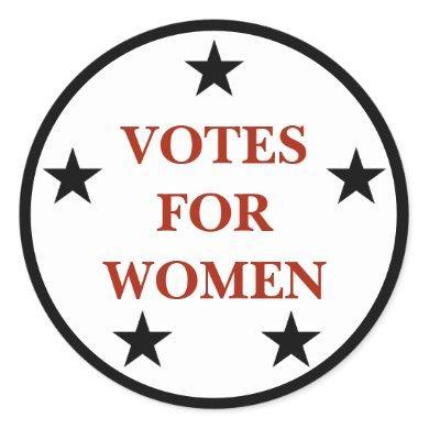 Votes for Women Historic Suffrage Pin Sticker