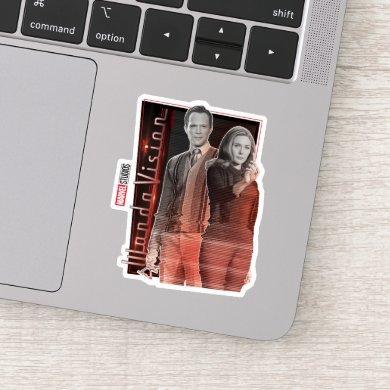Wanda and Vision Retro Couple Sticker