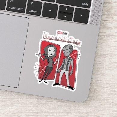 WandaVision Retro Animation Graphic Sticker
