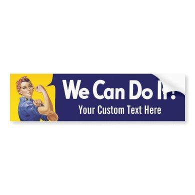 We Can Do It! Rosie the Riveter Bumper Sticker