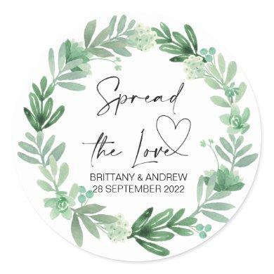 Wedding Bag Favor Spread the Love Succulents Classic Round Sticker