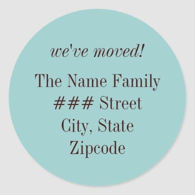 we've moved! family return address label
