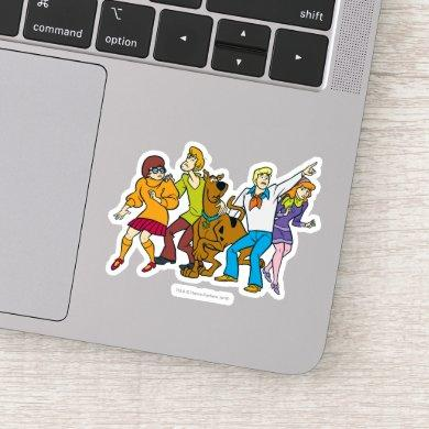 Whole Gang Lookout Mystery Inc Sticker
