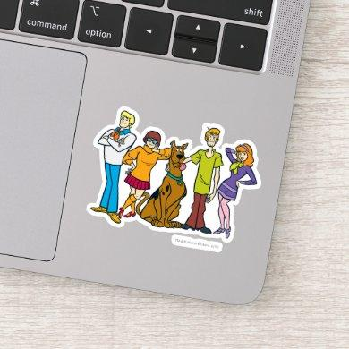 Whole Gang Pose Mystery Inc Sticker