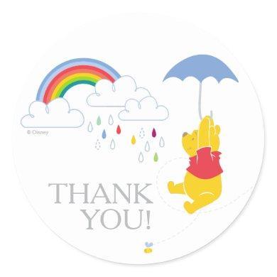 Winnie the Pooh | Boy Baby Shower Thank You Classic Round Sticker
