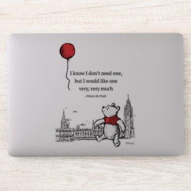 Winnie the Pooh | I Know I Don't Need One Quote 2 Sticker