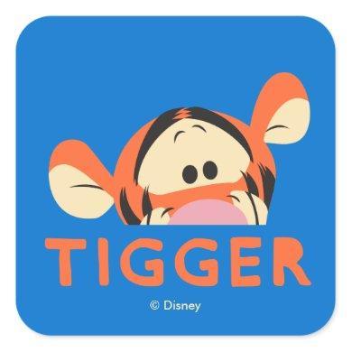 Winnie the Pooh | Peek-a-Boo Tigger Square Sticker