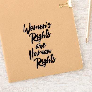 """Women's Rights Are Human Rights"" Sticker"