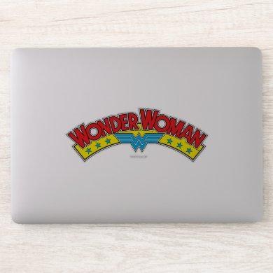 Wonder Woman 1987 Comic Book Logo Sticker