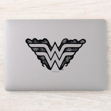 Wonder Woman Black Lace Logo Sticker