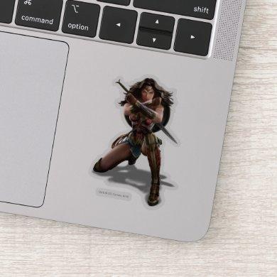 Wonder Woman Blocking With Bracelets Sticker