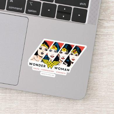 Wonder Woman Comic Evolution Graphic Sticker