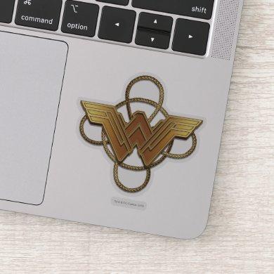 Wonder Woman Gold Symbol Over Lasso Sticker
