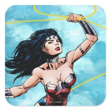 Wonder Woman & Lasso of Truth Square Sticker