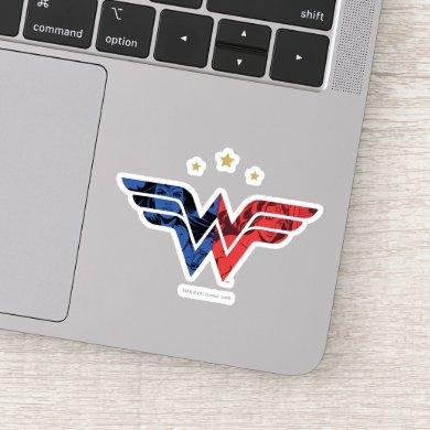 Wonder Woman Modern & Retro Comic Overlay Logo Sticker