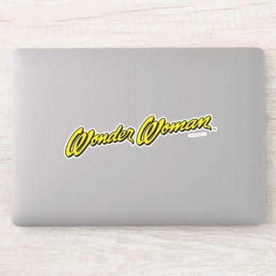 Wonder Woman Name Sticker