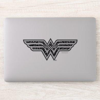Wonder Woman Paisley Logo Sticker