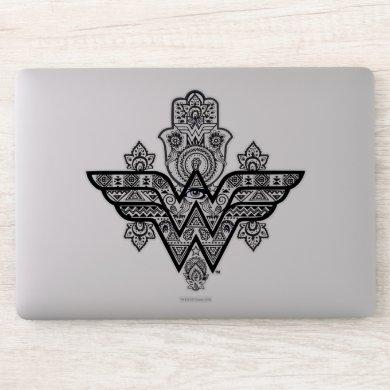 Wonder Woman Spiritual Paisley Hamsa Logo Sticker