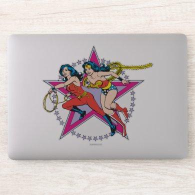 Wonder Woman Star Background Sticker