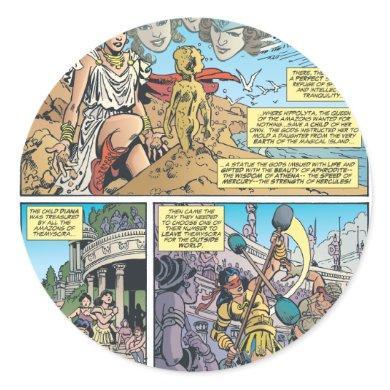 Wonder Woman Themyscira Classic Round Sticker