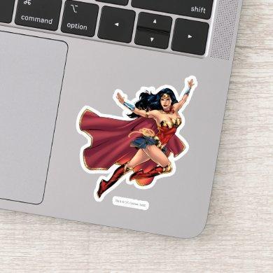 Wonder Woman Wearing Cape Sticker