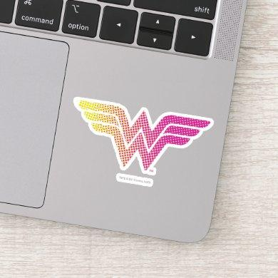 Wonder Woman Yellow-Pink Halftone Gradient Logo Sticker