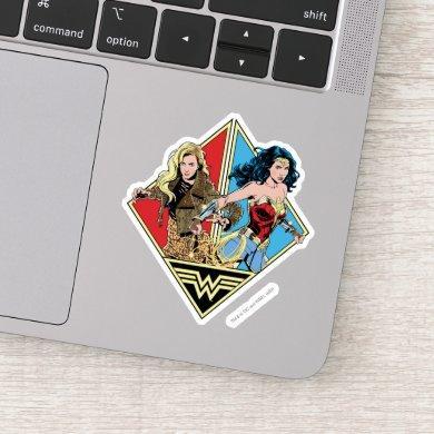 WW84 | Retro Comic Barbara Minerva & Wonder Woman Sticker