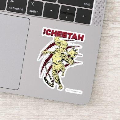 WW84 | The Cheetah Retro Comic Art Sticker