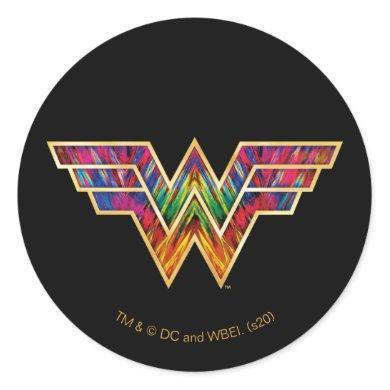 WW84 | Wonder Woman Kaleidoscope Logo Classic Round Sticker
