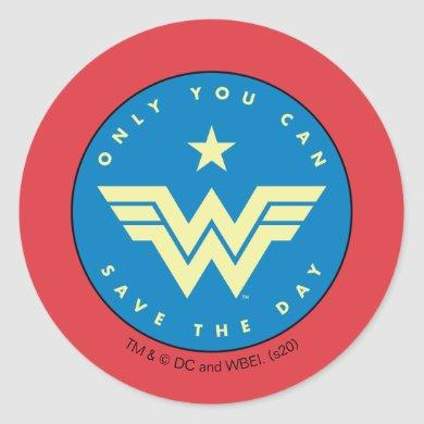 WW84 | Wonder Woman Only You Can Save The Day Classic Round Sticker