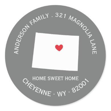 WYOMING State   New Home Address Label Sticker