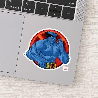 X-Men | Beast Character Badge Sticker
