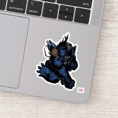 X-Men | Beast Jumping Forward Sticker